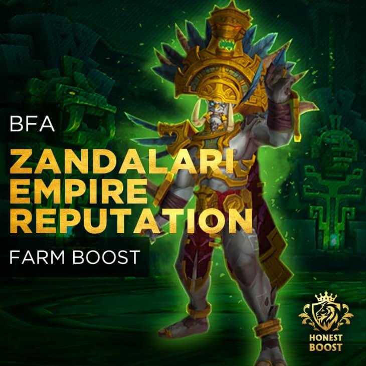 BFA ZANDALARI EMPIRE REPUTATION FARM BOOST